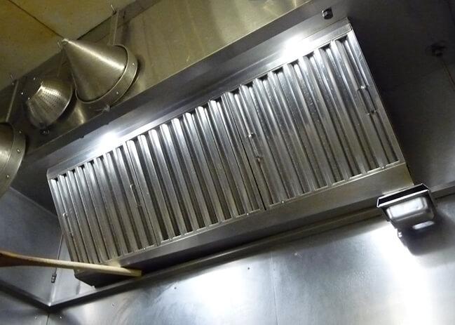 排気フード バッフル型